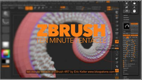 tutorial zbrush r7 creating a tentacle using zmodeler and nanomesh features