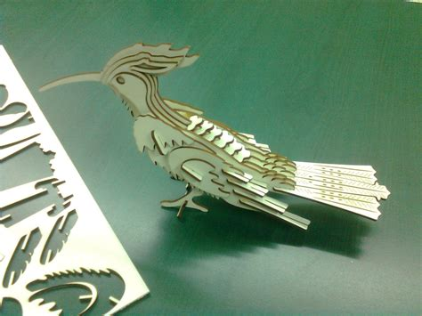 How To Make A 3d Bird Out Of Paper - cut a 3d bird with laser cutter