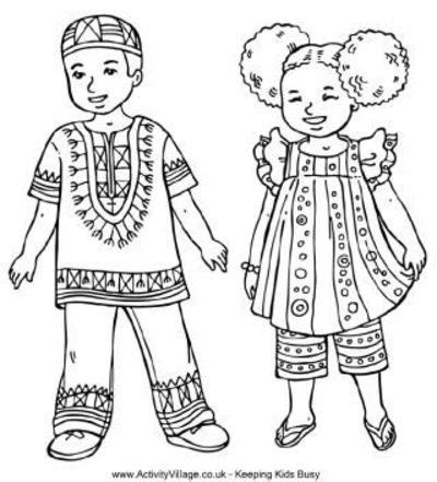 multicultural coloring pages preschool children from around the world colouring pages preschool