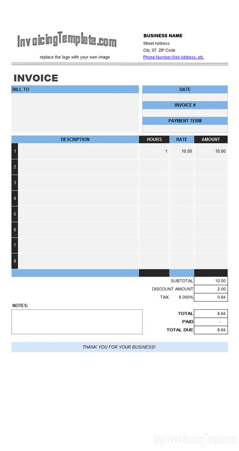 labour invoice template labor invoicing sle