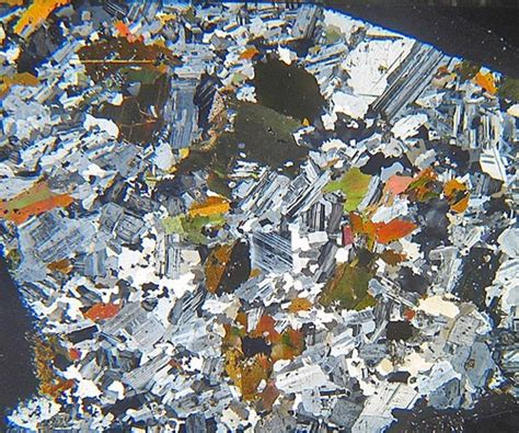 diorite thin section granodiorite from portugal thin section microscope slide
