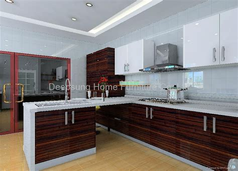 wood kitchen furniture wood grain kitchen cabinet sl 03 deepsung home