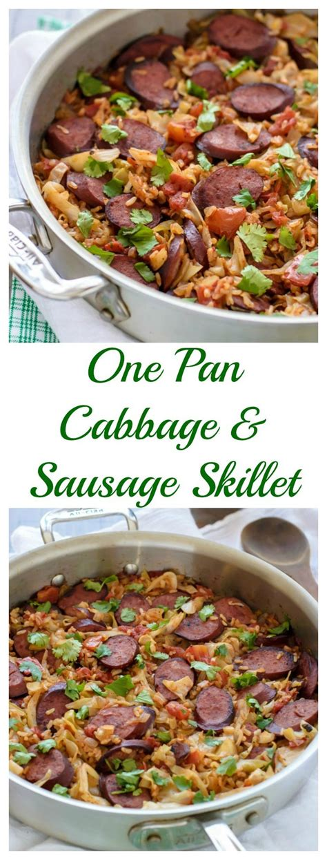 one pan cabbage and sausage skillet with rice easy