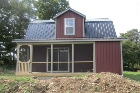 18 x24 two story cabin shell with 6 porch