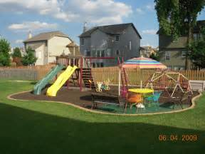 Cheap Backyard Playsets My Brillian Design Landscaping Ideas Backyard Trampoline
