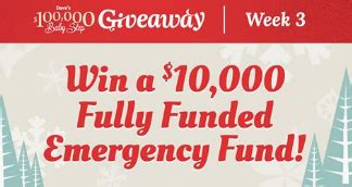 Dave Ramsey Sweepstakes - dave ramsey dave s 100 000 baby steps giveaway sweepstakes win 12 000