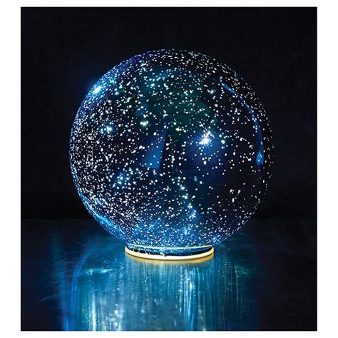 Outdoor Lighted Spheres Lighted Mercury Glass Sphere Blue At Signals Hr9906