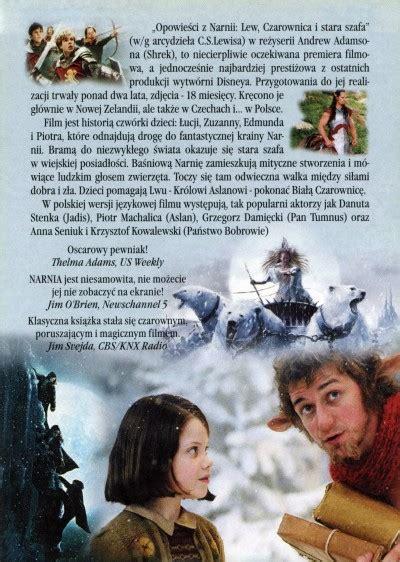 film narnia lew czarownica i stara szafa opowieści z narnii lew czarownica i stara szafa ulotki