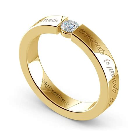 quot lo prometoquot promise ring in yellow