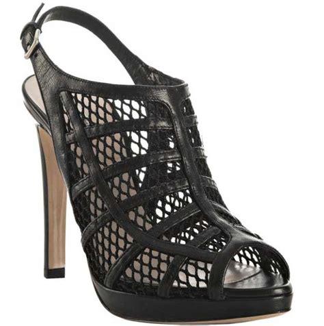 10 Coolest Miu Miu Shoes by Miu Miu Black Leather Mesh Cage Peep Toe Heel Top