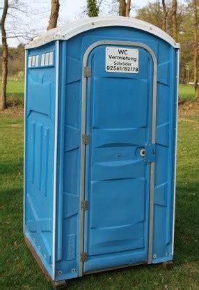 wc mobile mobile wc kabinen wc vermietung schr 246 der