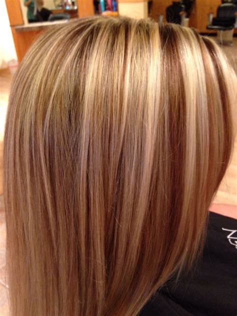 foil highlights for brown hair blonde and carmel foils done 10 31 13 michelle theilmann