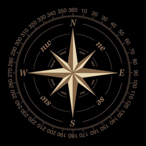compass on a black background vector free