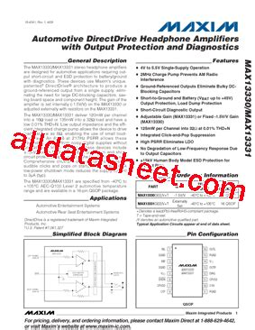 maxim integrated products automotive max13330 データシート pdf maxim integrated products