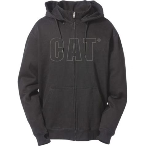 Hoodie Black Caterpillar Cat C3 caterpillar cat c1910753 mens applique hooded sweatshirt zip up hoodie jacket ebay