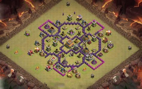 Coc Town Hall 7 War Bas | best base for town hall 7 clash of clans th7 coc best base