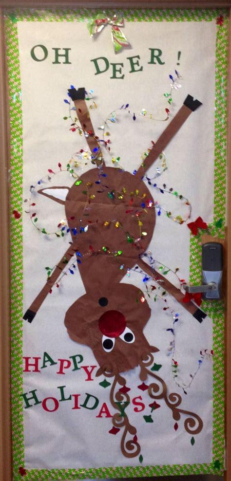 oh deer classroom decoration craft oh deer reindeer door crafts school doors school door decorations