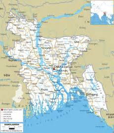 highway map of detailed clear large road map of bangladesh ezilon maps