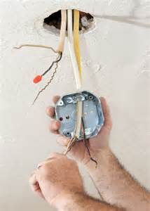 electrician wiring ceiling box flickr photo