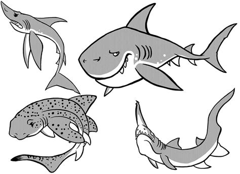 free printable shark coloring pages fitfru style