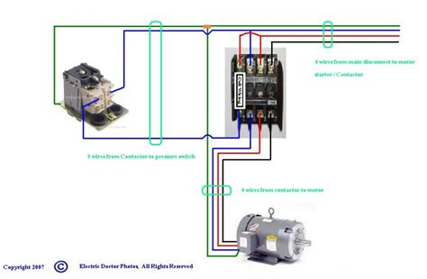 wiring diagram for air compressor motor square d air