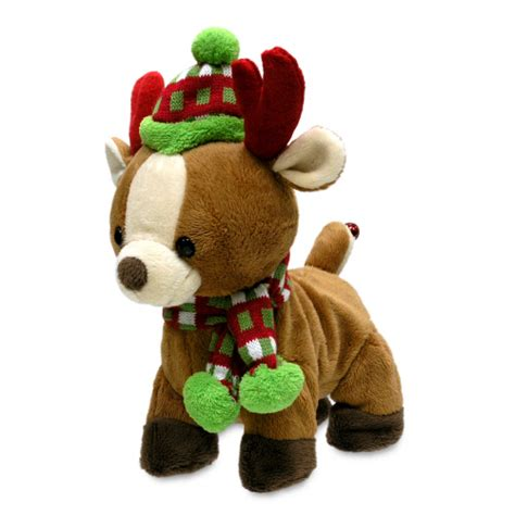 rock and roll rider reindeer singing plush toy