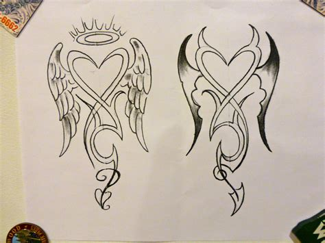 tattoo pictures devil angel angel devil tattoo concept 1 by mark dicarlo my