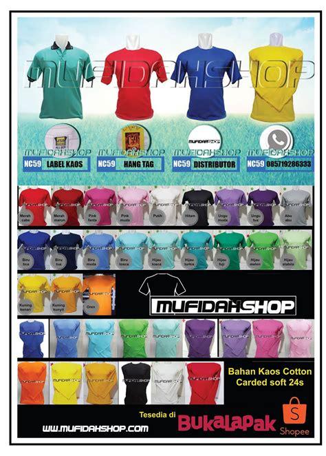 Harga Kaos Merk C59 distributor kaos polos c59 mufidah shop