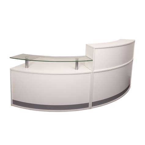 evolve small reception desk 2 sections value office