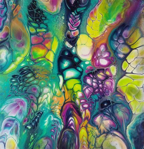 Bildergebnis für abstract pouring art