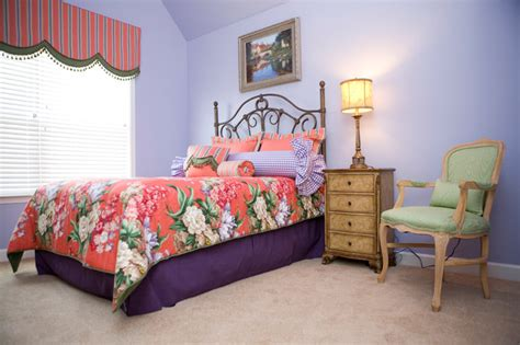 periwinkle bedroom vibrant periwinkle and coral bedrrom traditional