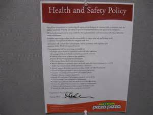 Work Health And Safety Policy Templates by Pizza Pizza Library