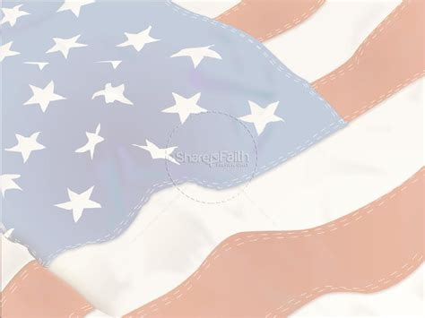 american flag with stitching independence day powerpoints