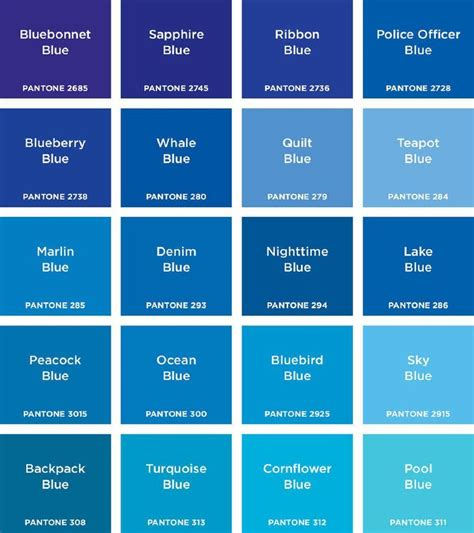 shades of blue chart blue color chart www imgkid com the image kid has it