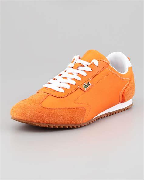 orange sneakers lyst lacoste wescott lowprofile sneaker in orange