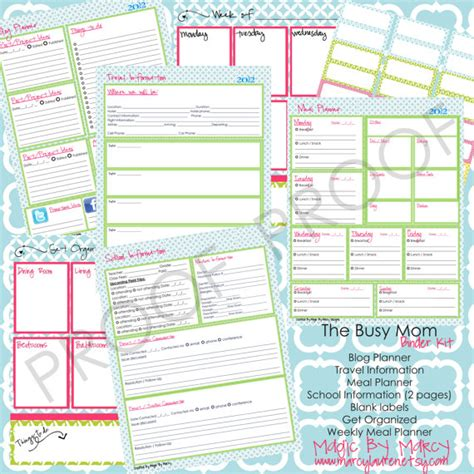 free printable home organizer notebook 8 best images of free printable family organization binder