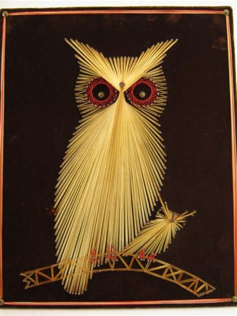 string art pattern owl stitching cards string art picmia