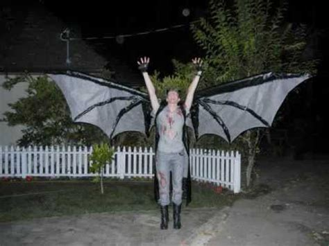 scary demon costume articulated  foot wings youtube