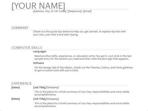 20 Free Resume Templates For Word That Ll Help You Land A Job Work Resume Template Word