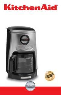 kitchenaid kitchenaid coffee maker manual