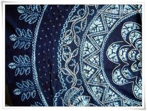 Lotus Flower Tapestry Batik Tie Dye Cotton Tapestry Table Cloth Lotus