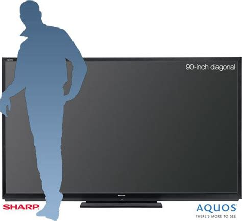 Tv Big Aquos sharp reveals largest commercially available 90 inch led