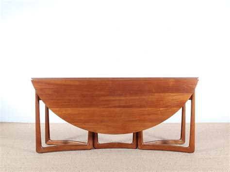 mid century modern teak 20 59 folding dining table by