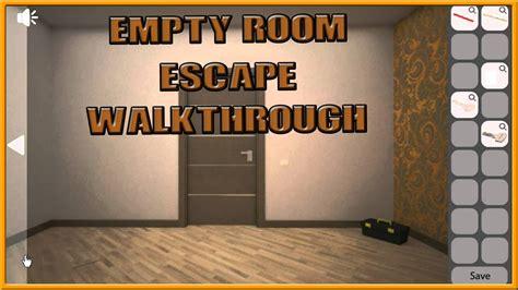 room escape tips empty room escape walkthrough