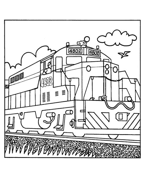 free train engine coloring pages