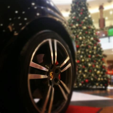 porsche with christmas tree happy new year from porsche mania