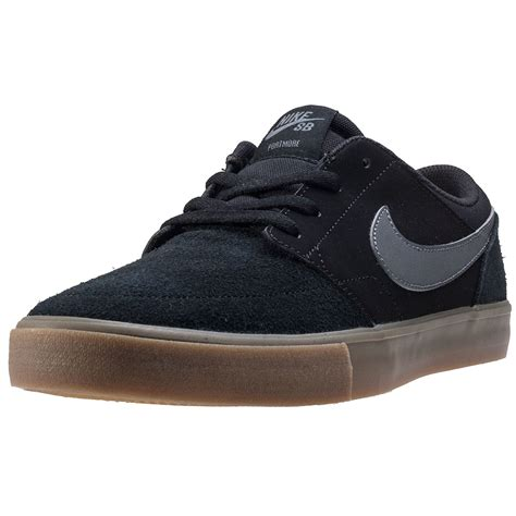 Nike Trainer 2 nike sb portmore ii solar mens trainers black grey new