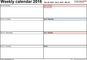printable weekly calendar template weekly calendar 2016 uk free printable templates for word