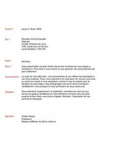 Exemple De Lettre De Remerciement à Un Ministre Modele Lettre De Remerciement Commerciale