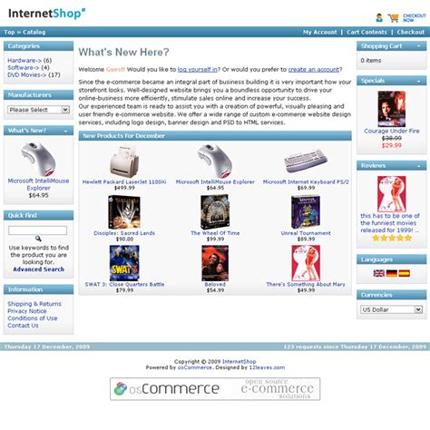free oscommerce template blue free oscommerce template skin free